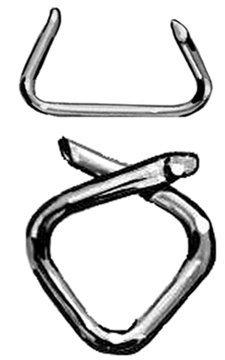 1443-5 Osborne Hog Rings 5lb