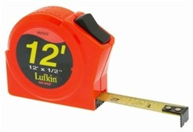 "HV1012 Lufkin  1/2"" x 12' Hi-Viz Orange Series 1000 Power Tape"