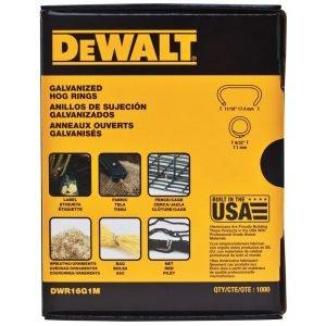 Dewalt DWR16G1M Hog RIngs Box of a 1000
